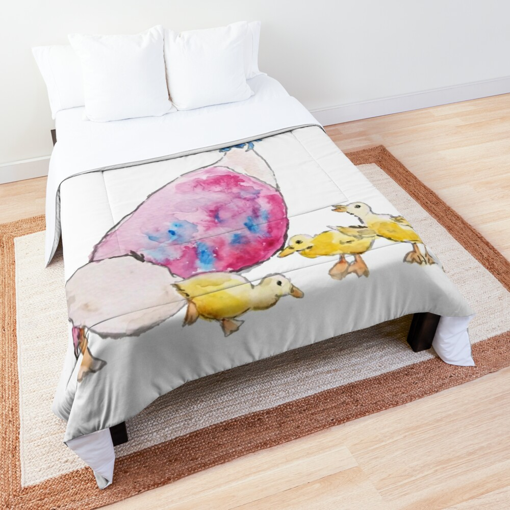Jemima Puddle Duck and small yellow ducklings Beatrix Potter Comforter