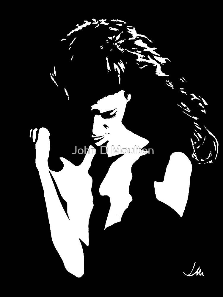 """Nikki"" Moonlight Cameo Art by John D Moulton"