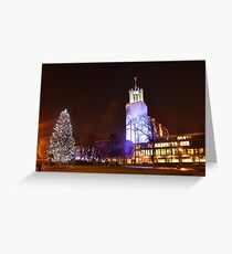 Newcastle Civic centre at Christmas Greeting Card