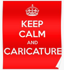 charlie hebdo - keep calm and caricature Poster
