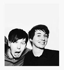 Black and White// Dan And Phil!!! Photographic Print