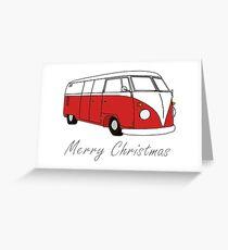 Merry Christmas Kombi Lovers! Grußkarte