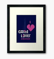 Game Lover Framed Print