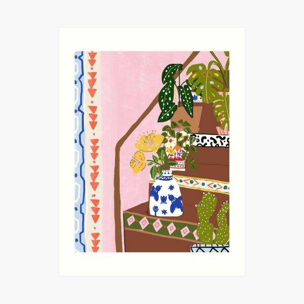 Escaliers bohèmes Impression artistique