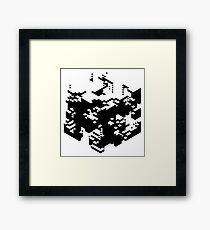 Isometric Decay Framed Print