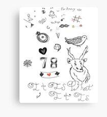 Louis Tattoos Metal Print