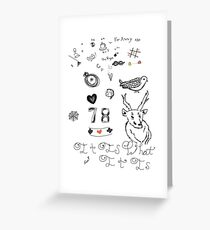 Louis Tattoos Greeting Card