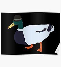 Fedora Duck Poster