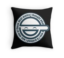 Laughing man GITS Throw Pillow