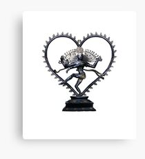 Shiva Nataraj, Lord of Dance, in love with love itself  Canvas Print