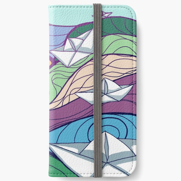 Paper Boats iPhone Wallet
