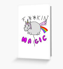 Sparkles the Inappropriate Unicorn Greeting Card