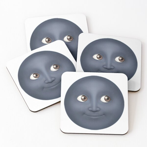 Moon Emoji Coasters (Set of 4)