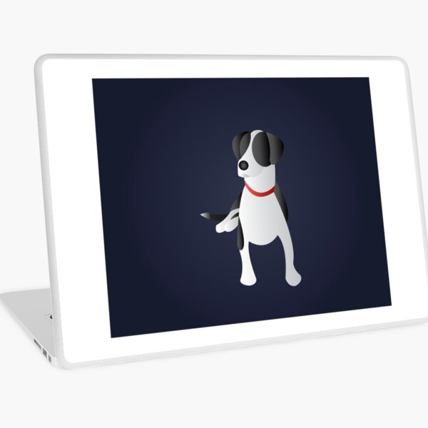 Minimalist Black and White Dog  Laptop Skin
