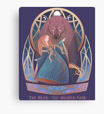 The Bear & The Maiden Fair Canvas Print