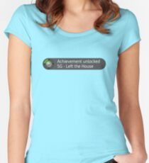 Xbox Achievement - Left the House Women's Fitted Scoop T-Shirt