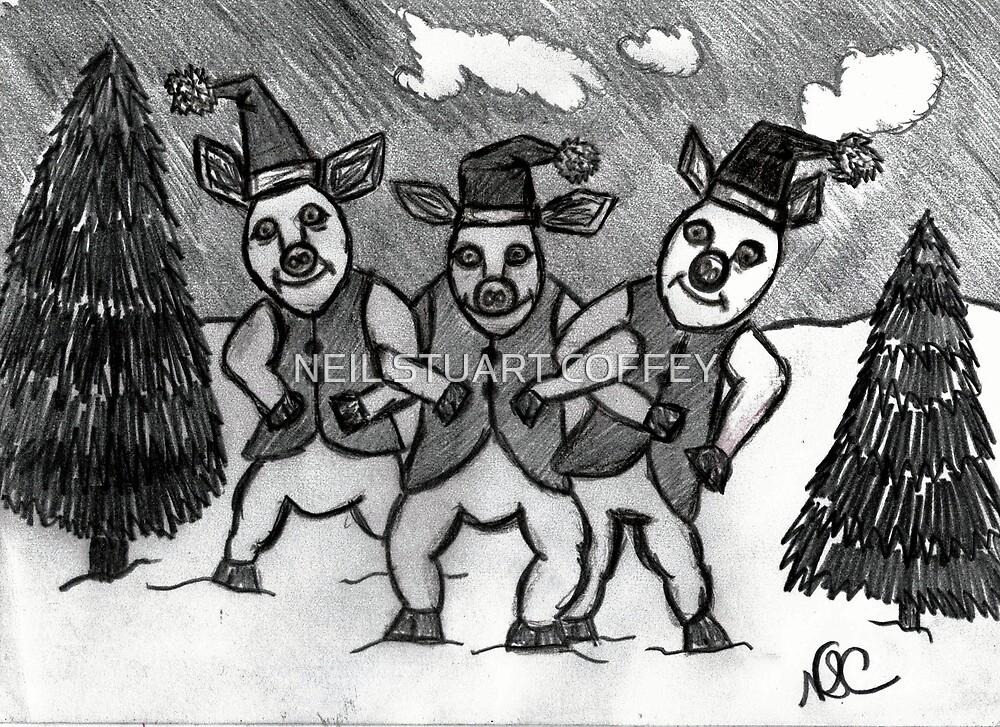 THREE LITTLE PIGS AT CHRISTMAS  by NEIL STUART COFFEY