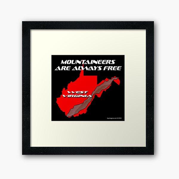 Mountaineer State Framed Art Print