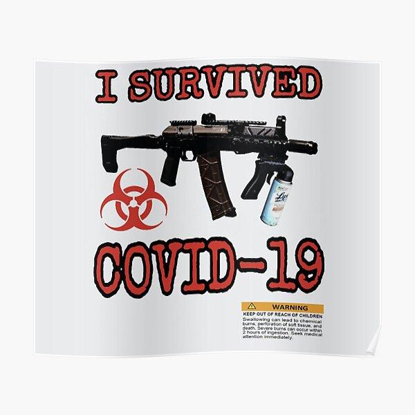 Korona Kami Ich habe COVID-19 überlebt Poster