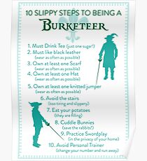 10 Slippy Steps ~ Burketeer Poster