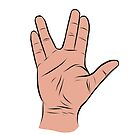 Live Long and Prosper Hand Sign by rmcbuckeye