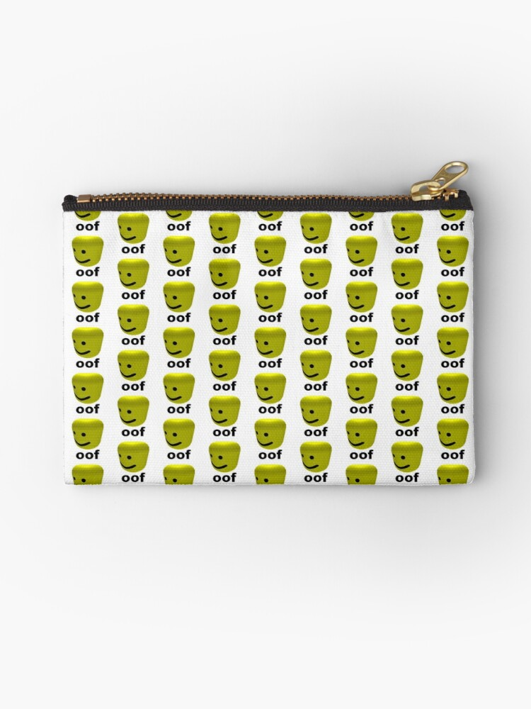 Roblox Oof Zipper Pouch By Amemestore Redbubble