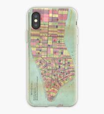 Vinilo o funda para iPhone Vintage NYC Political Ward Map (1870)