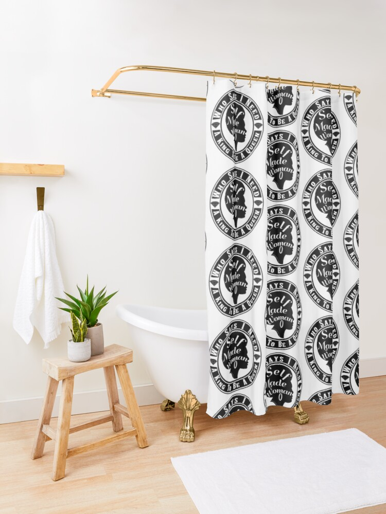 Alternate view of Who Says I Need A King Shower Curtain