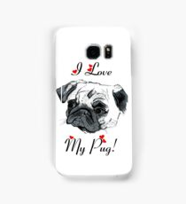I Love My Pug! with Hearts -  iPhone or iPod Case Samsung Galaxy Case/Skin