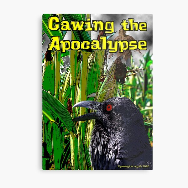 Cawing the Apocalypse Metal Print