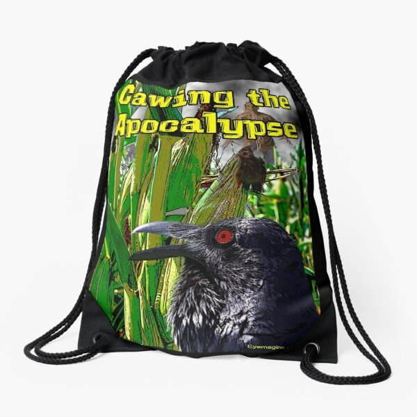 Cawing the Apocalypse Drawstring Bag