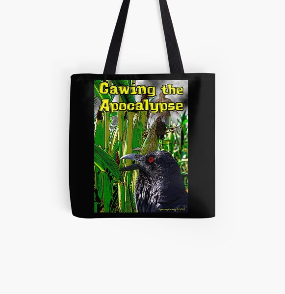 Cawing the Apocalypse All Over Print Tote Bag