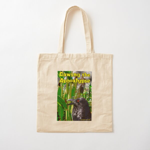 Cawing the Apocalypse Cotton Tote Bag