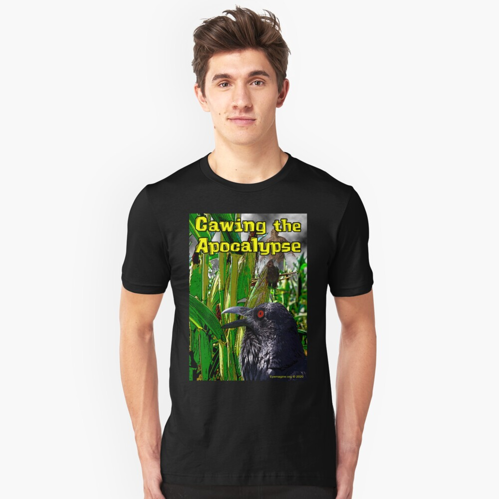 Cawing the Apocalypse Slim Fit T-Shirt