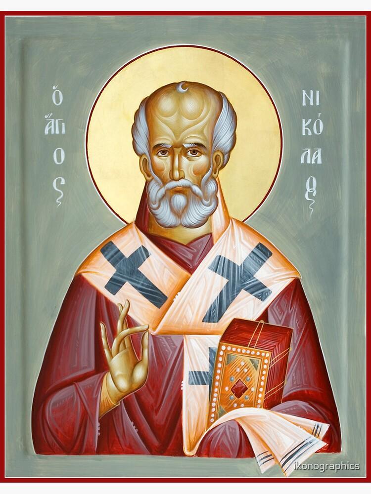 St Nicholas of Myra by ikonographics