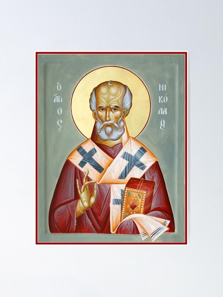 Alternate view of St Nicholas of Myra Poster