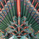 Changgyeong Palace Eaves Up Close, Seoul, Korea by Jane McDougall