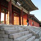 Changgyeong Palace Stone Steps, Seoul, Korea by Jane McDougall