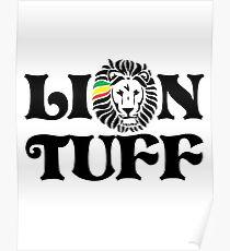 Lion Tuff HRZ BLK 2LN Poster
