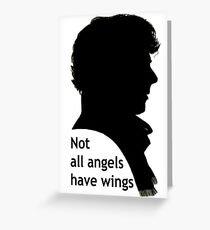 Not All Angels Have Wings - BBC Sherlock Greeting Card