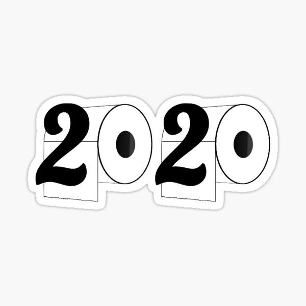 Senior Coronavirus 2020 Toilet Paper Sticker
