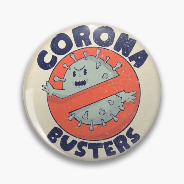Corona Busters Logo T Shirt Mask for Frontline Virus Covid19 Vaccinated Healthcare Hero Workers Survived ICU Nurse Doctors MD Medical Staff Self Isolating First Responders Coronabusters Volunteer Pin