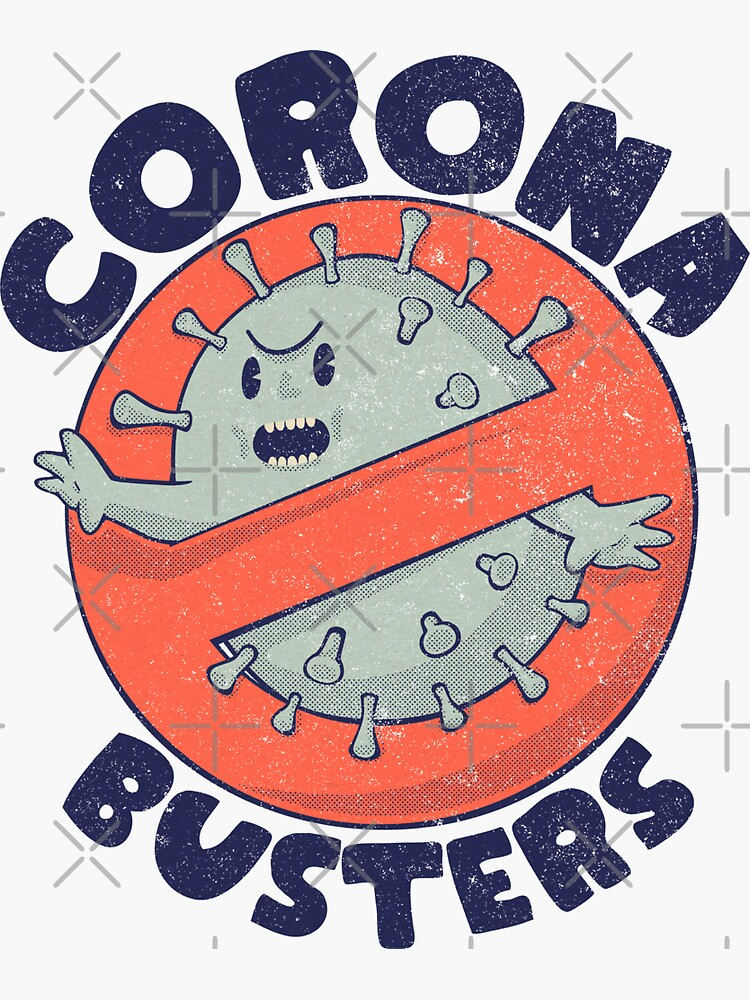 Corona Busters Logo T Shirt Mask for Frontline Virus Covid19 Vaccinated Healthcare Hero Workers Survived ICU Nurse Doctors MD Medical Staff Self Isolating First Responders Coronabusters Volunteer by schwartzog