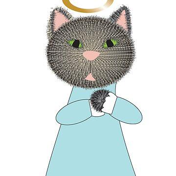 Angel Cat by ValeriesGallery