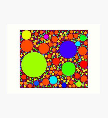 Random Tiling code by Philippe Guglielmetti Art Print