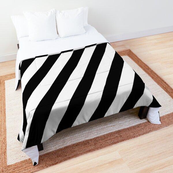 Black & White Stripes Comforter