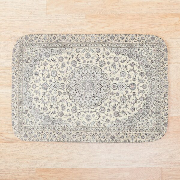 Traditional Oriental Moroccan Style Artwork Bath Mat