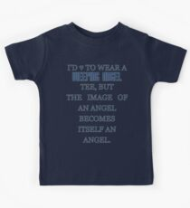 Can't wear a... weeping angel tee! Kids Tee