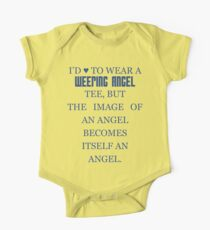 Can't wear a... weeping angel tee! One Piece - Short Sleeve