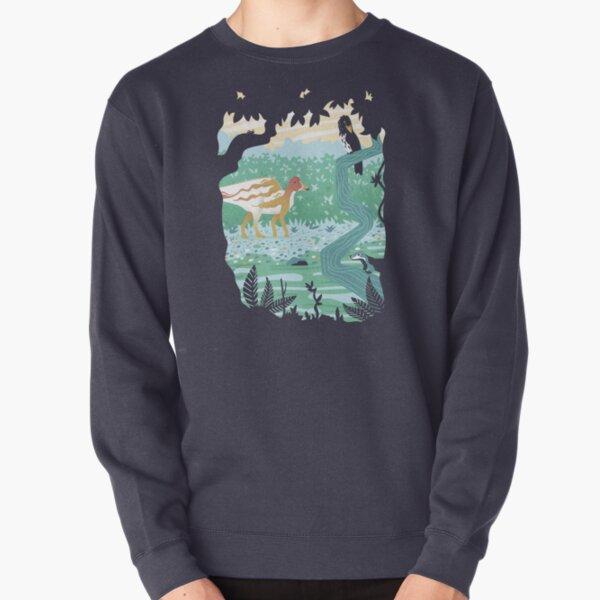Hypacrosaurus takes a stroll Pullover Sweatshirt